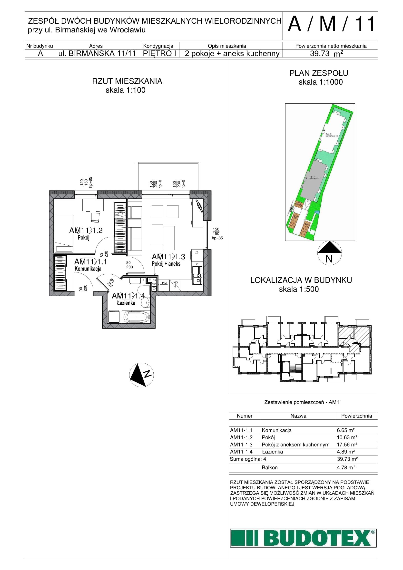 Mieszkanie nr A/M/11
