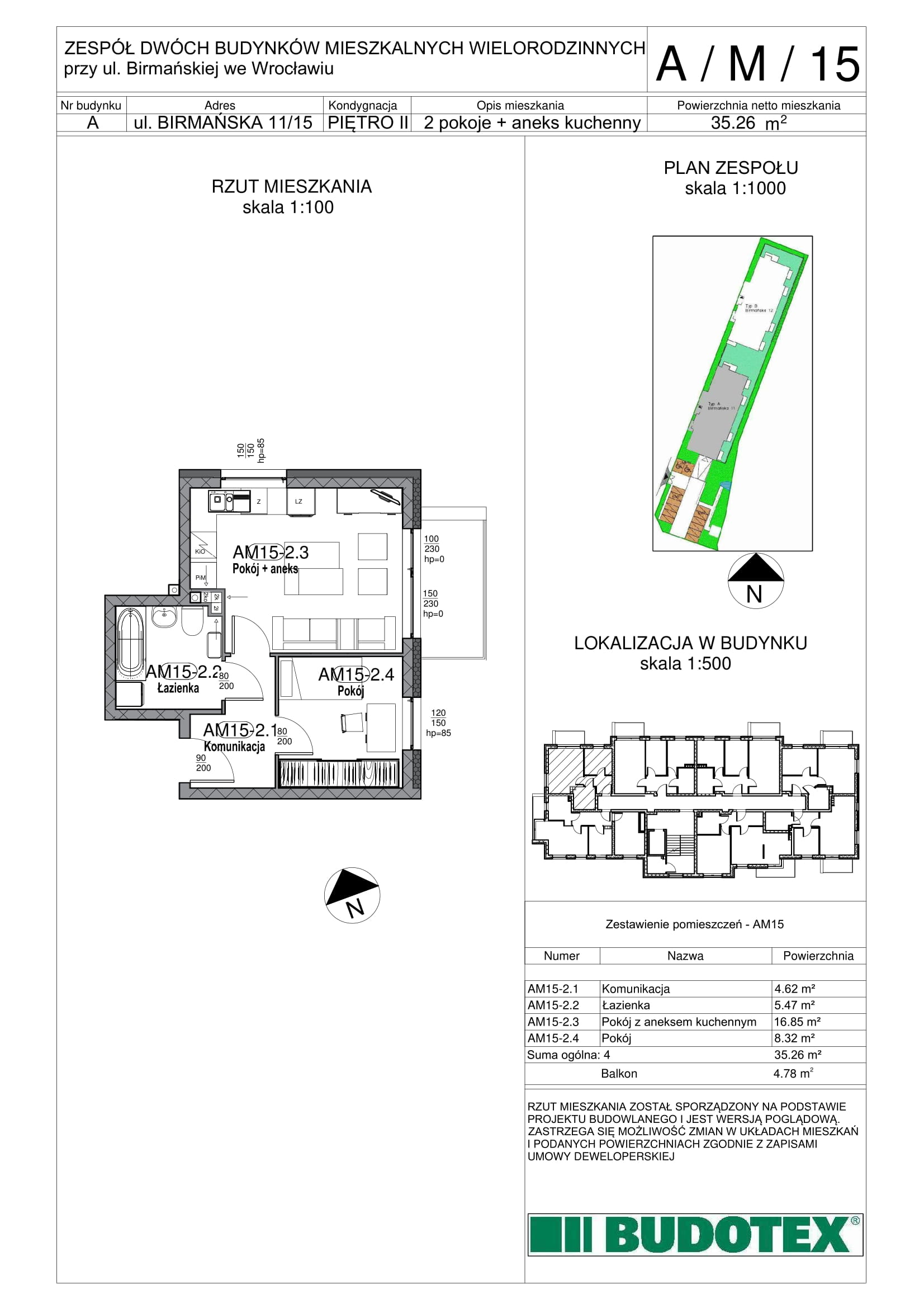 Mieszkanie nr A/M/15