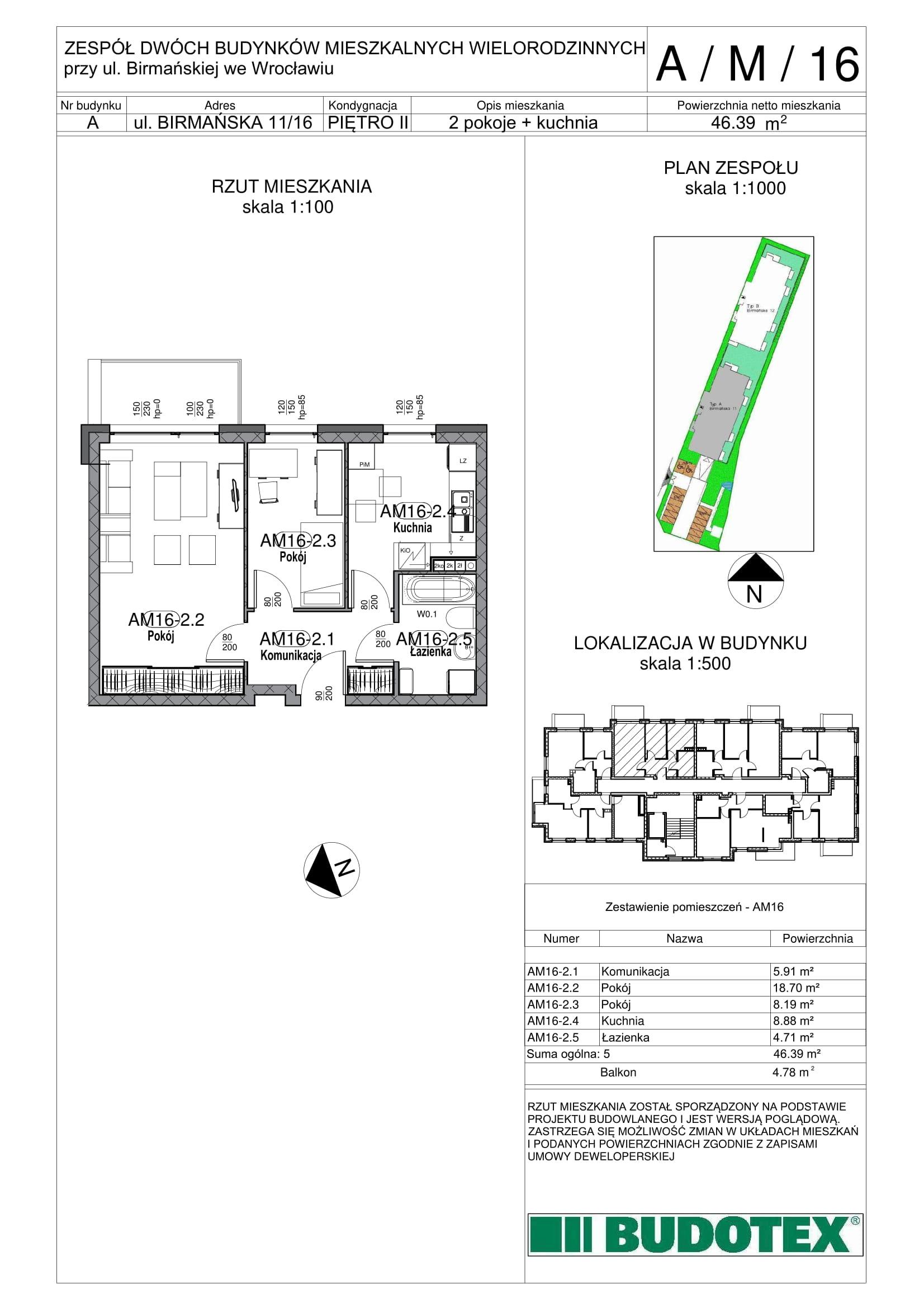 Mieszkanie nr A/M/16