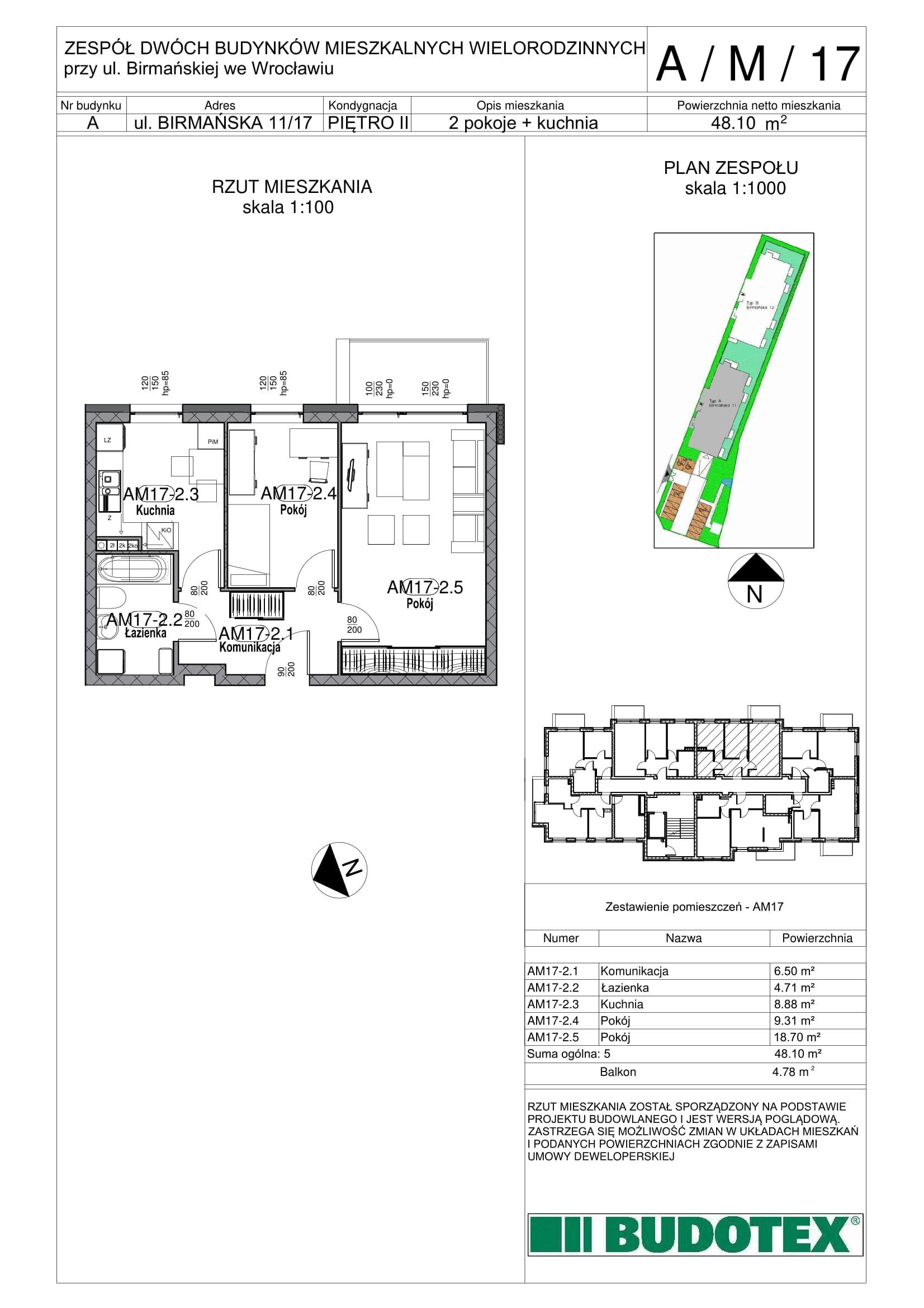 Mieszkanie nr A/M/17