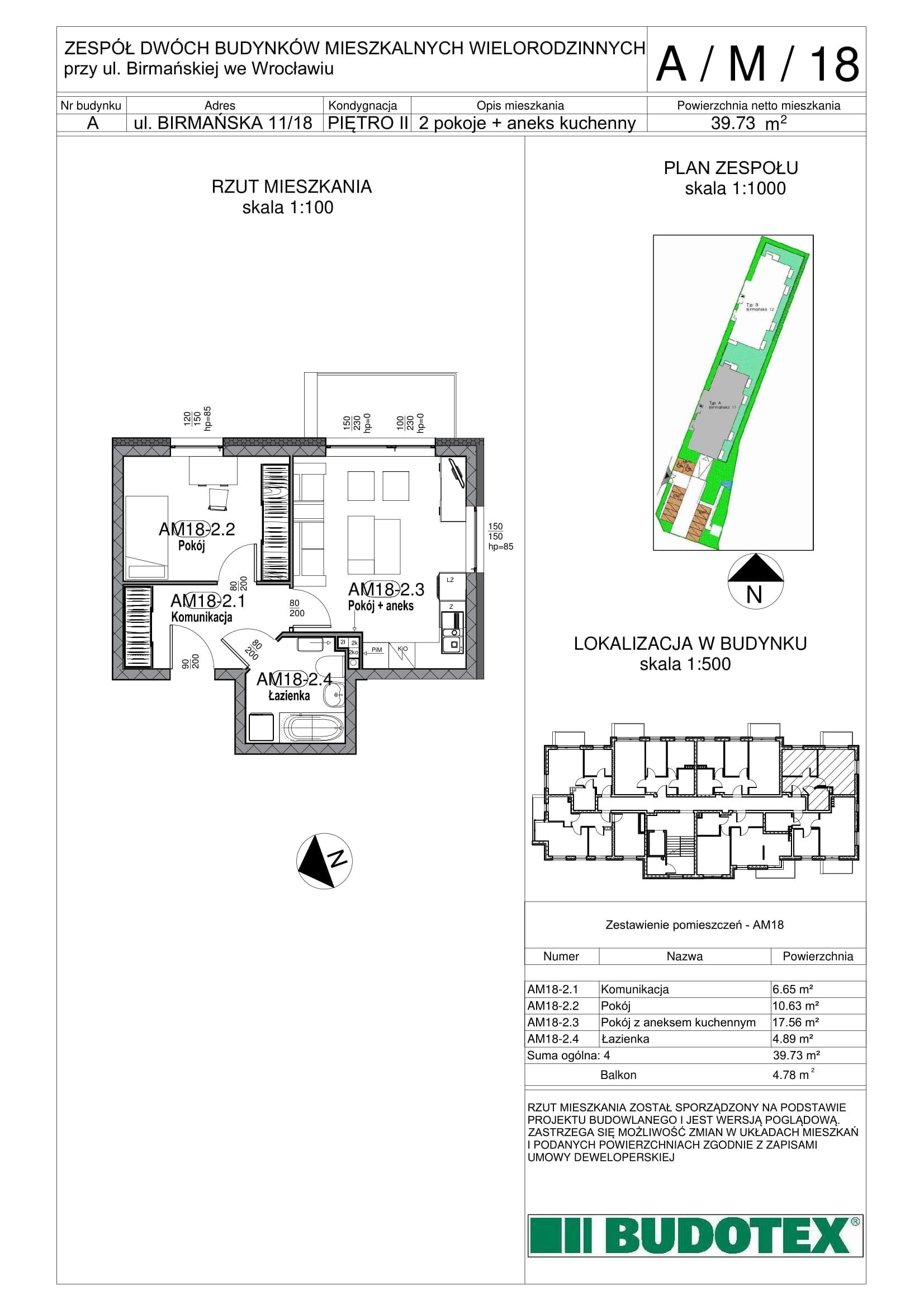 Mieszkanie nr A/M/18