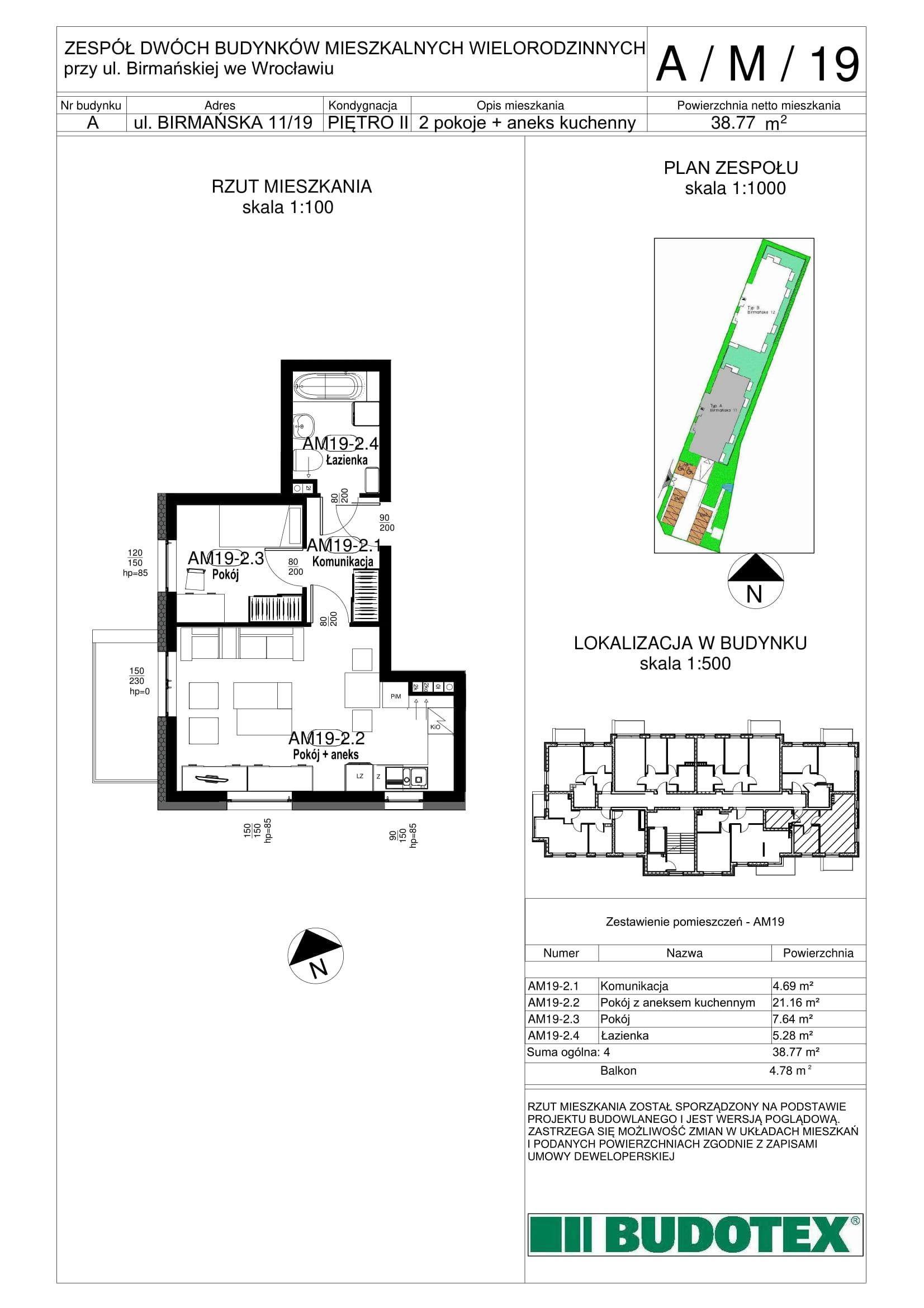 Mieszkanie nr A/M/19