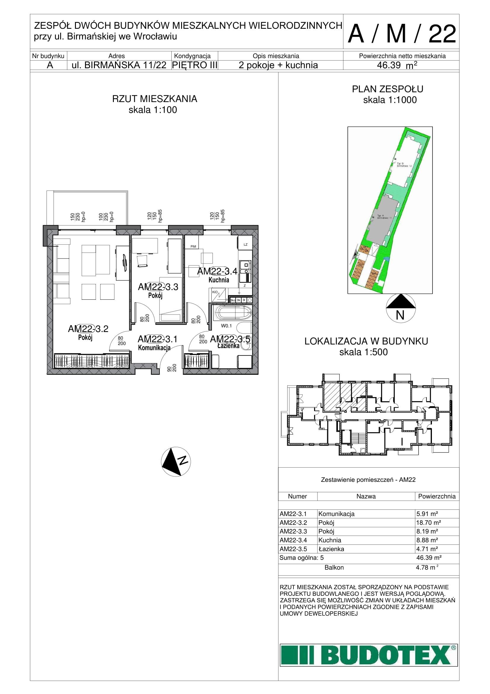 Mieszkanie nr A/M/22