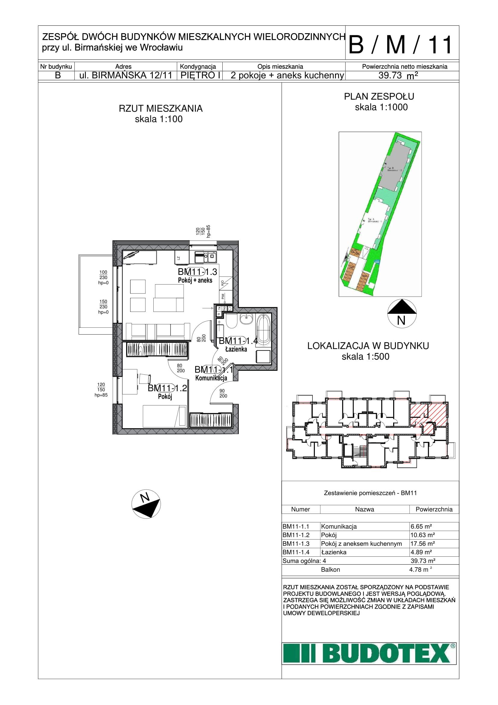 Mieszkanie nr B/M/11