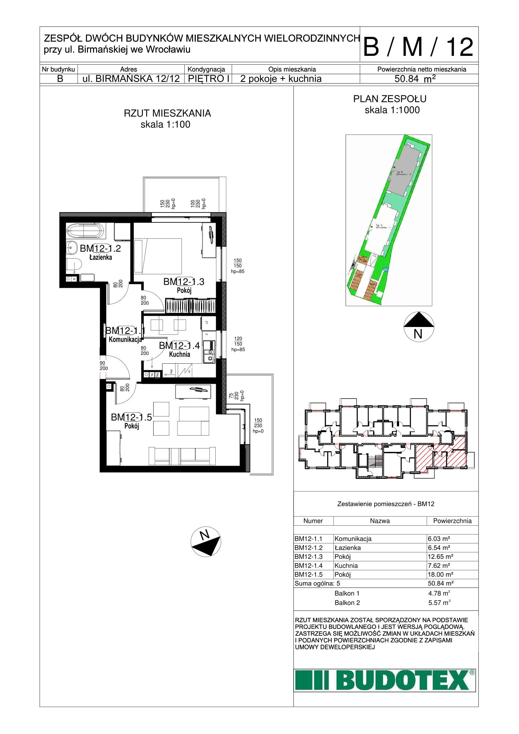 Mieszkanie nr B/M/12