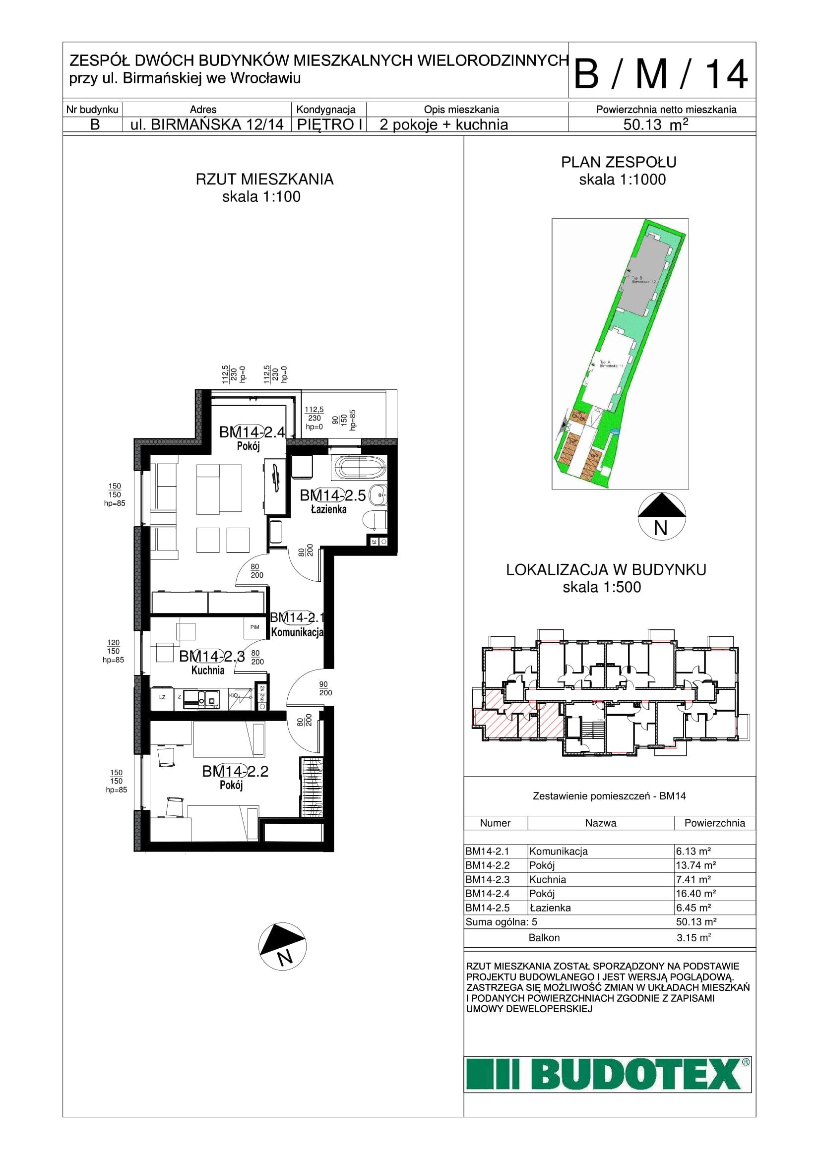 Mieszkanie nr B/M/14