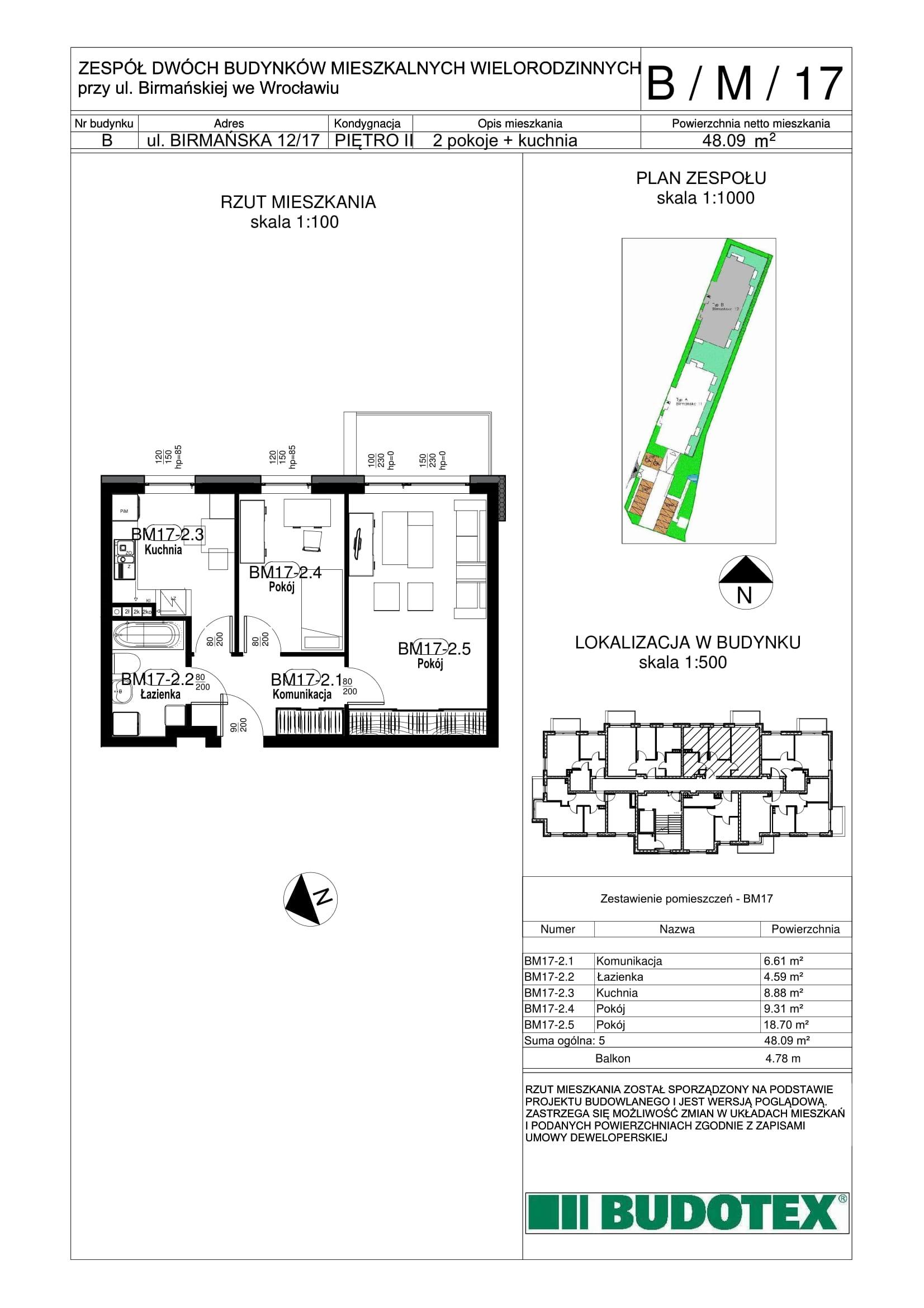 Mieszkanie nr B/M/17