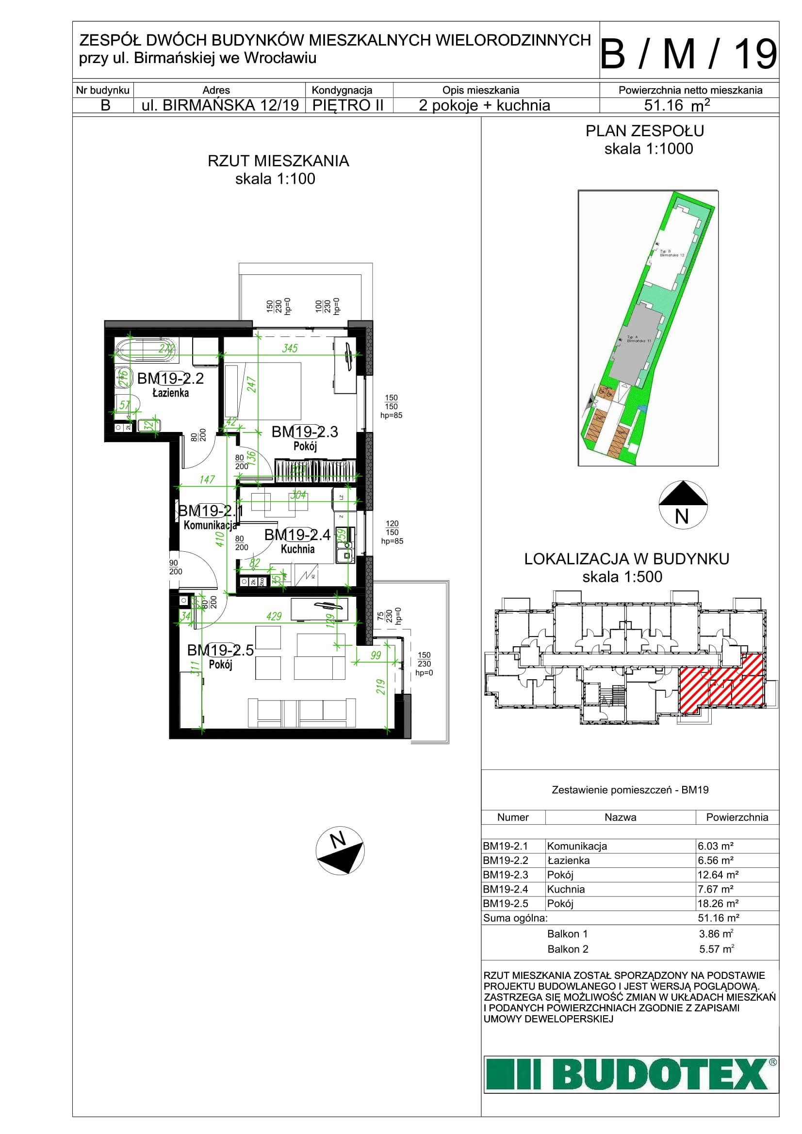 Mieszkanie nr B/M/19