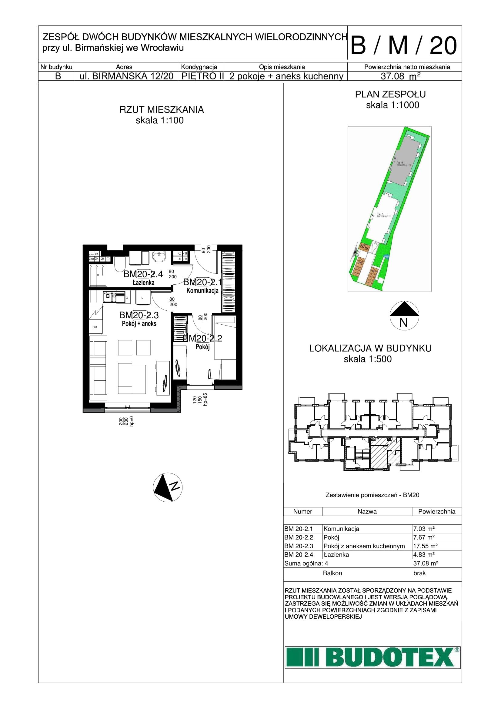 Mieszkanie nr B/M/20