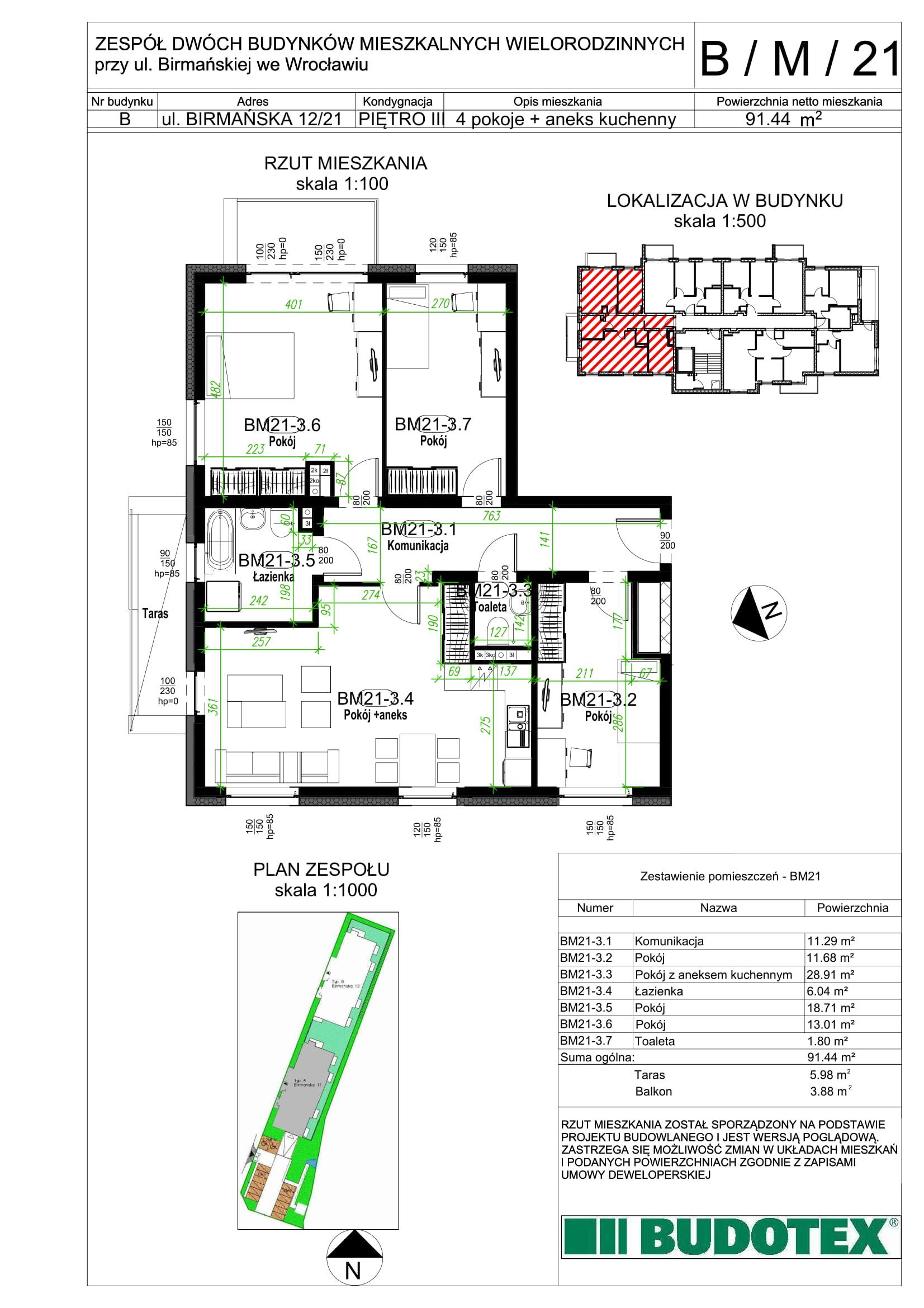 Mieszkanie nr B/M/21