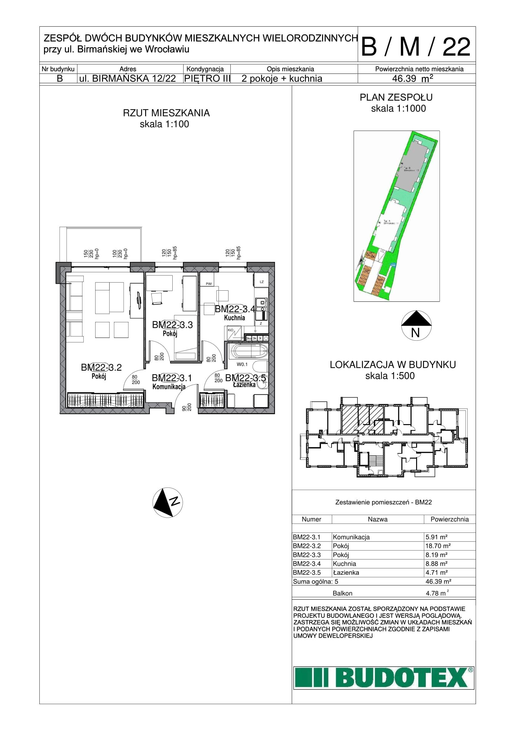 Mieszkanie nr B/M/22