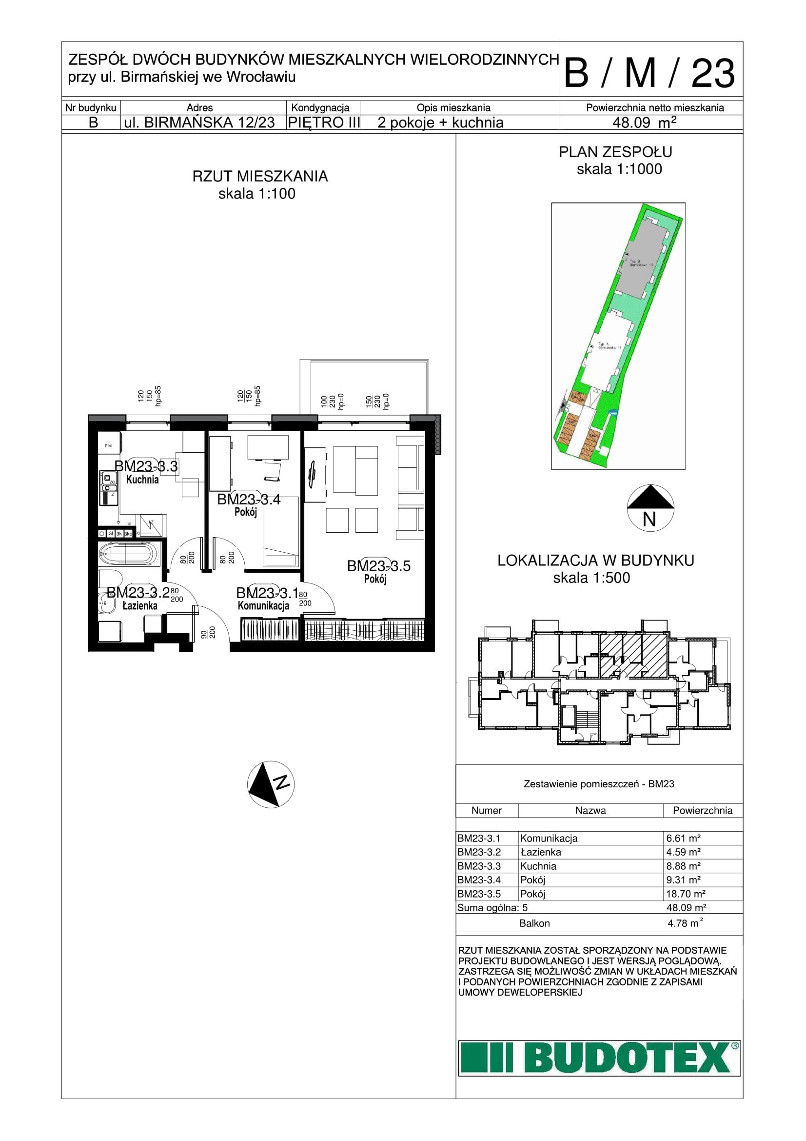 Mieszkanie nr B/M/23