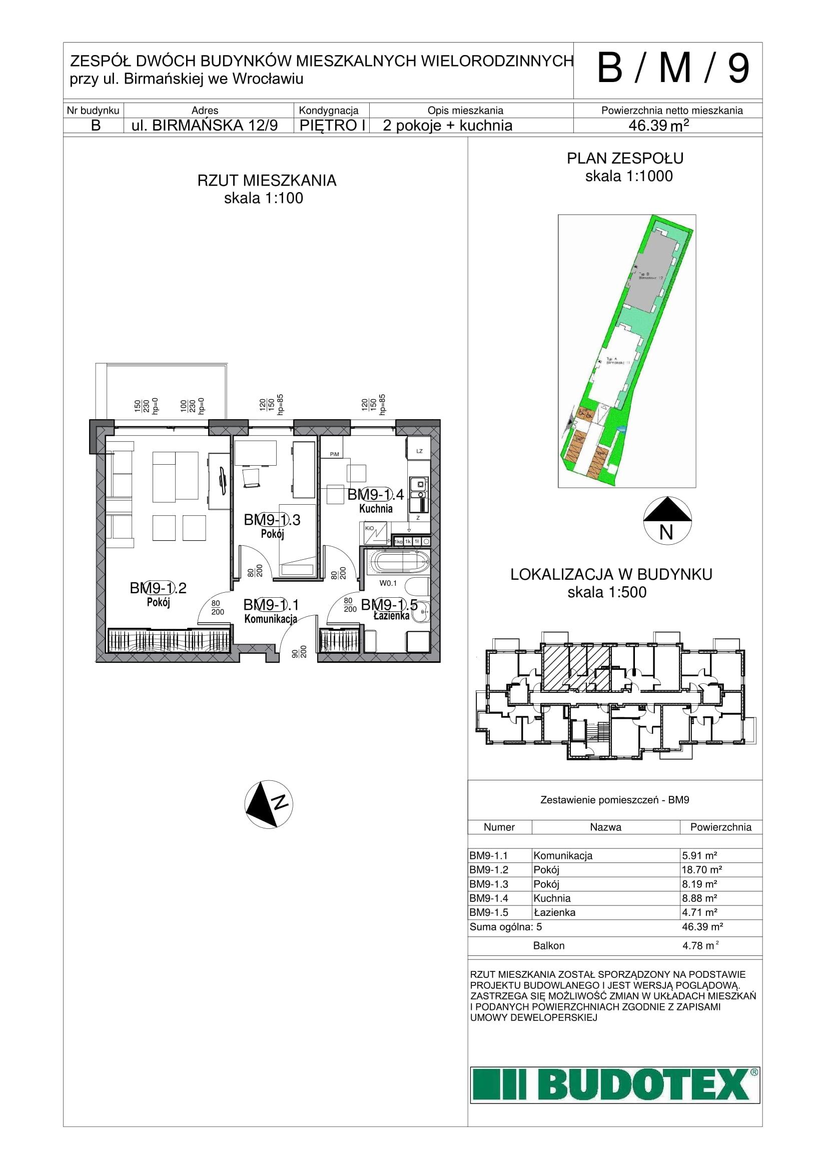 Mieszkanie nr B/M/9
