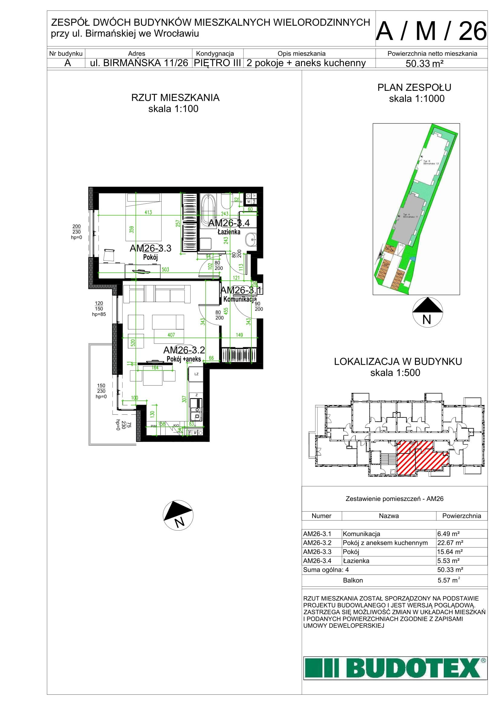 Mieszkanie nr A/M/26