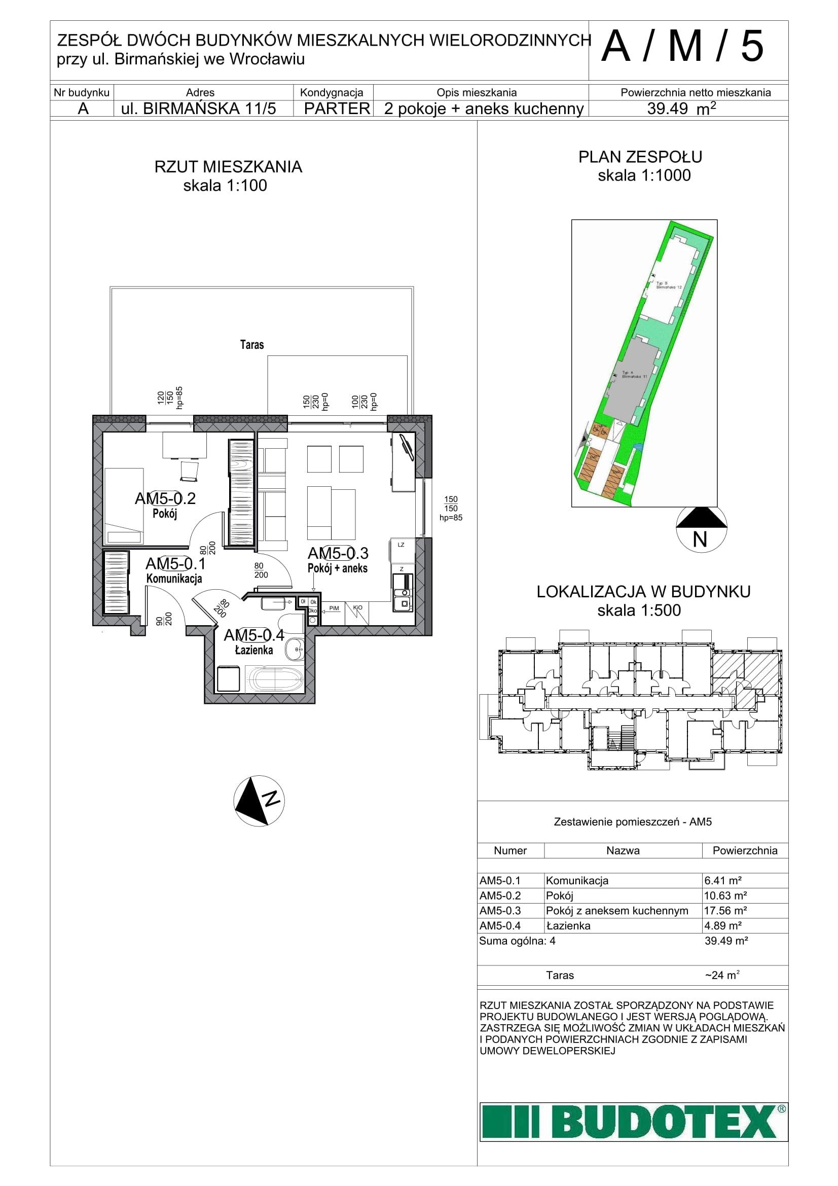 Mieszkanie nr A/M/05