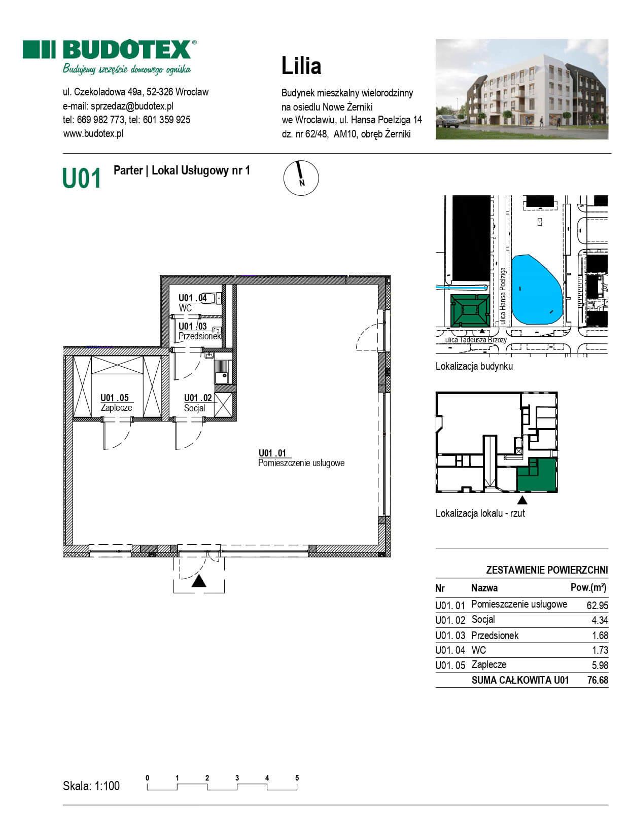 Mieszkanie nr U01