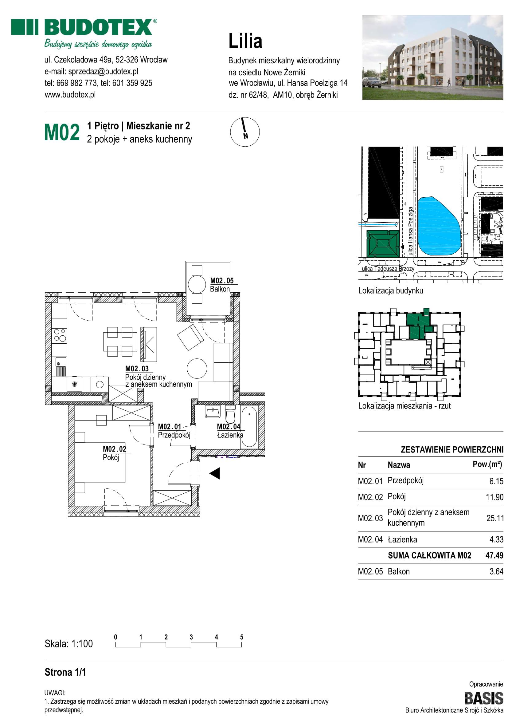 Mieszkanie nr M02