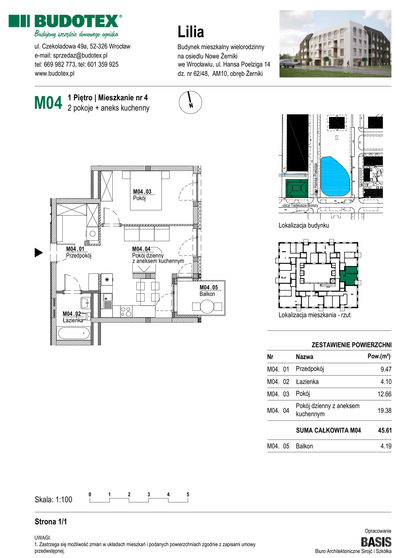 Mieszkanie nr M04