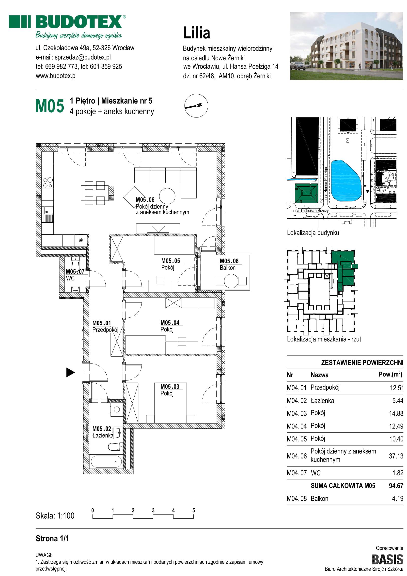 Mieszkanie nr M05