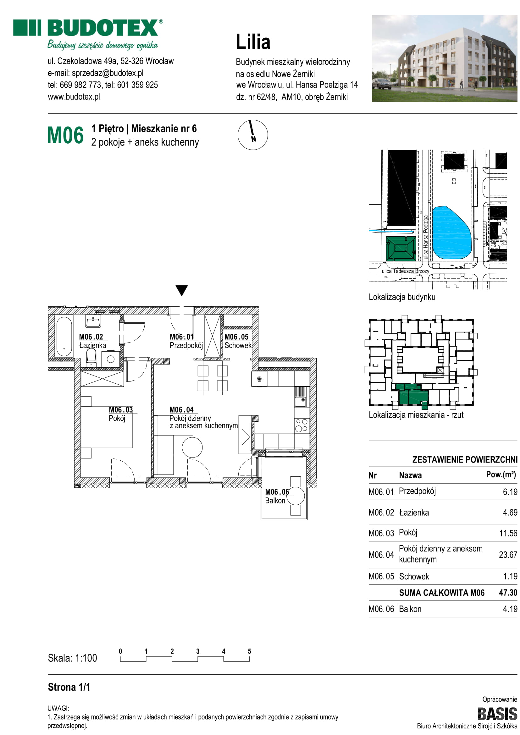 Mieszkanie nr M06