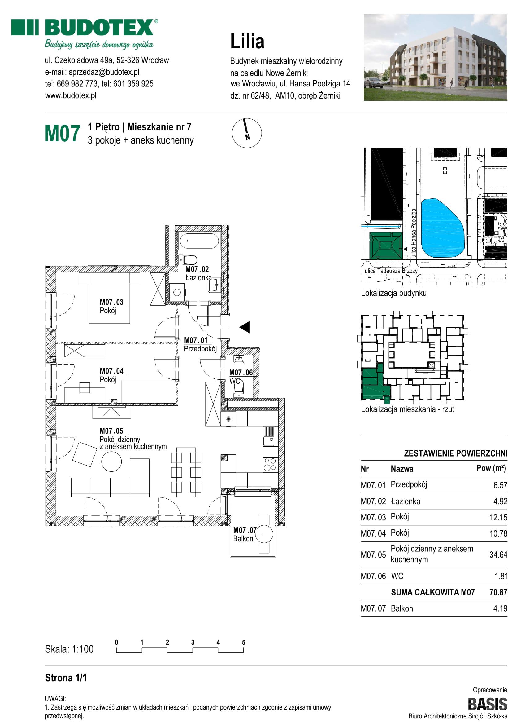 Mieszkanie nr M07