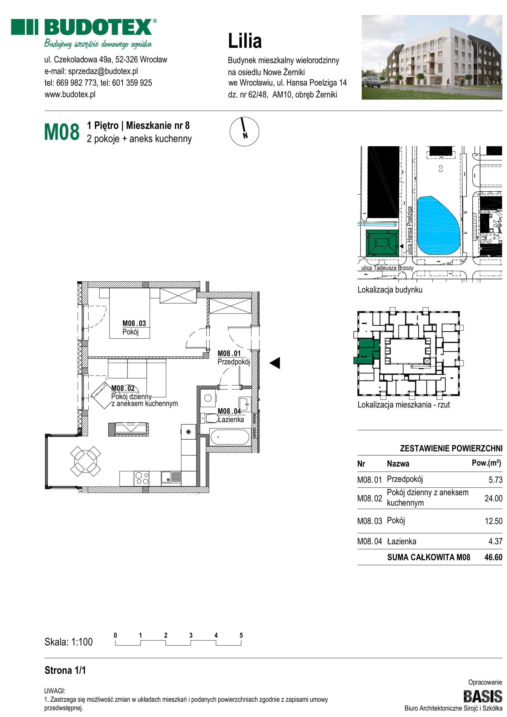 Mieszkanie nr M08