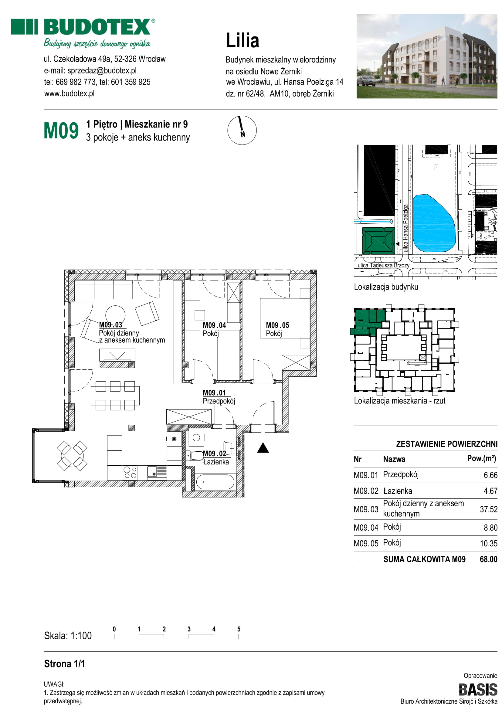 Mieszkanie nr M09