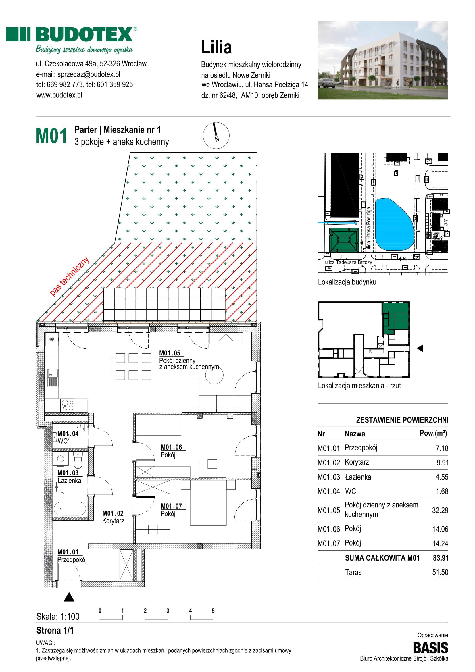 Mieszkanie nr M01