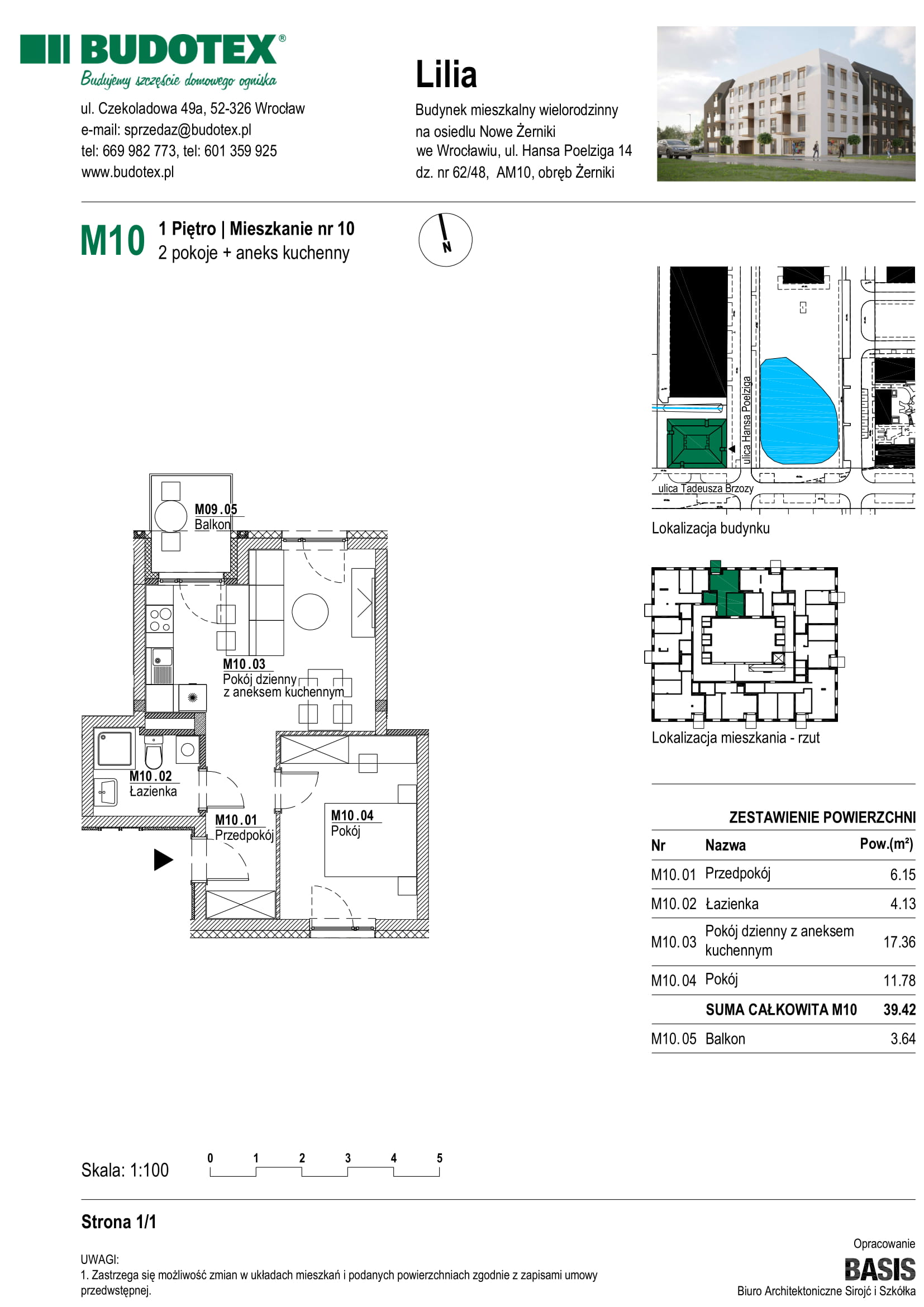Mieszkanie nr M10