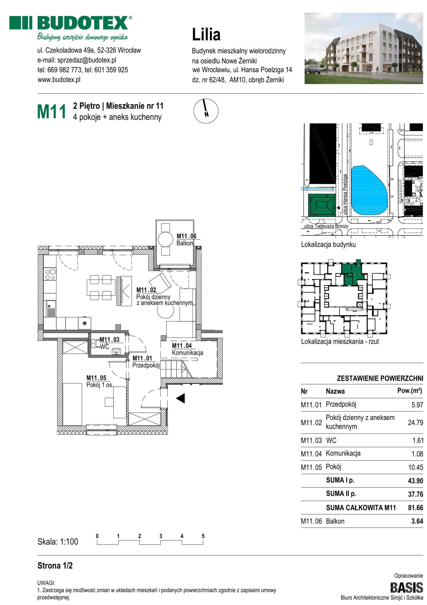 Mieszkanie nr M11