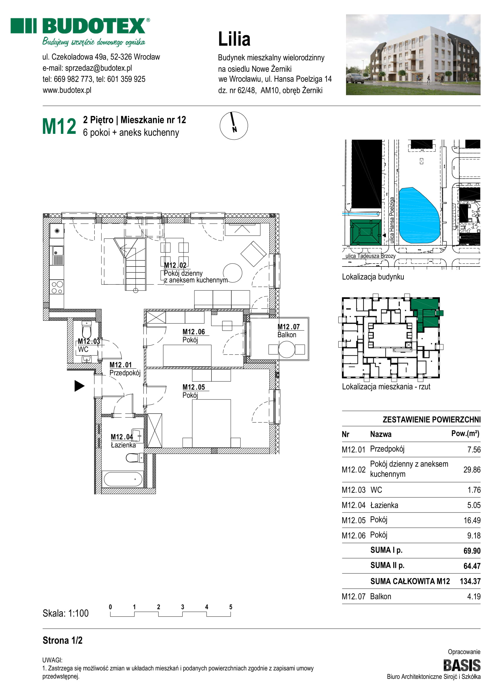 Mieszkanie nr M12