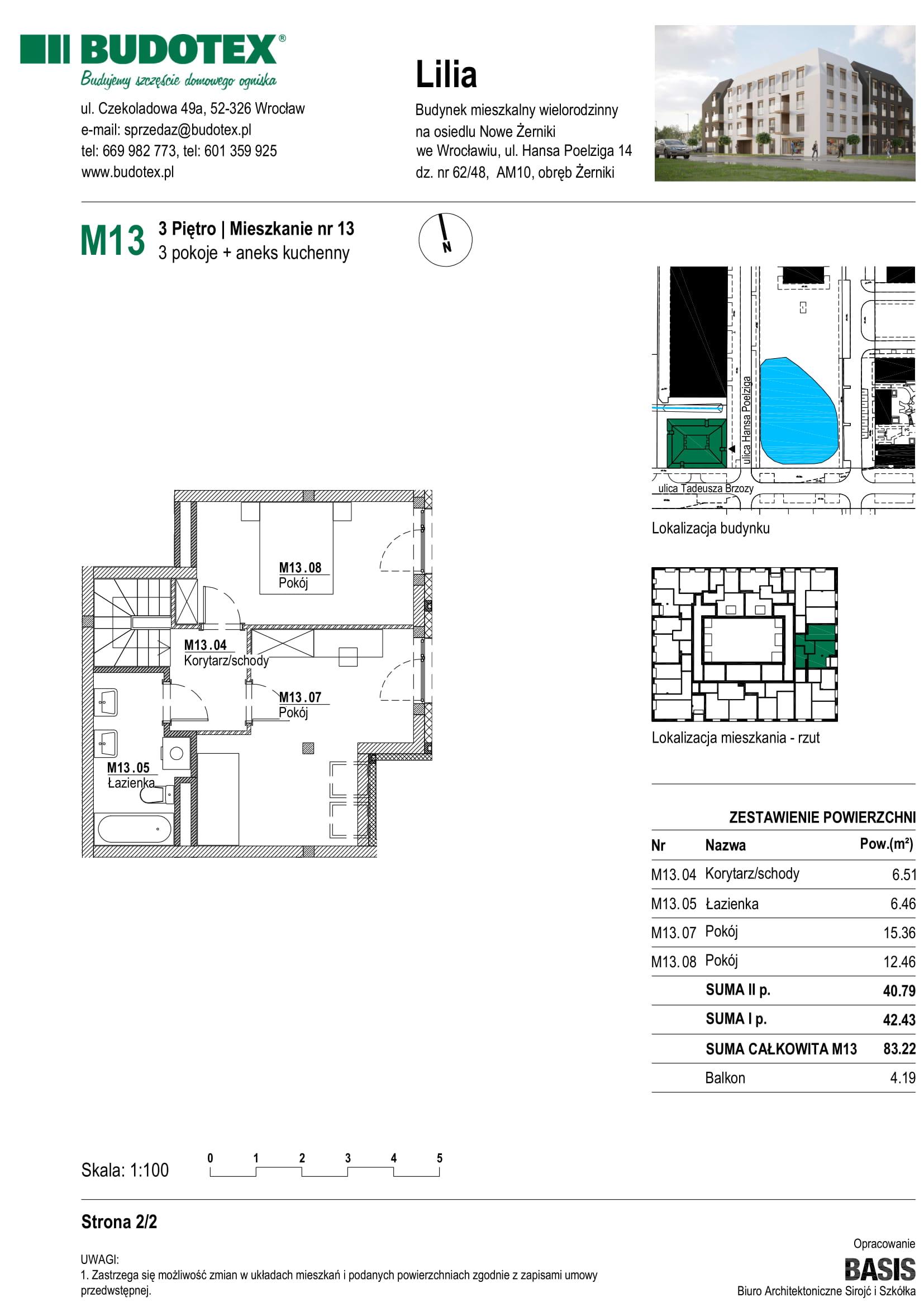 Mieszkanie nr M13