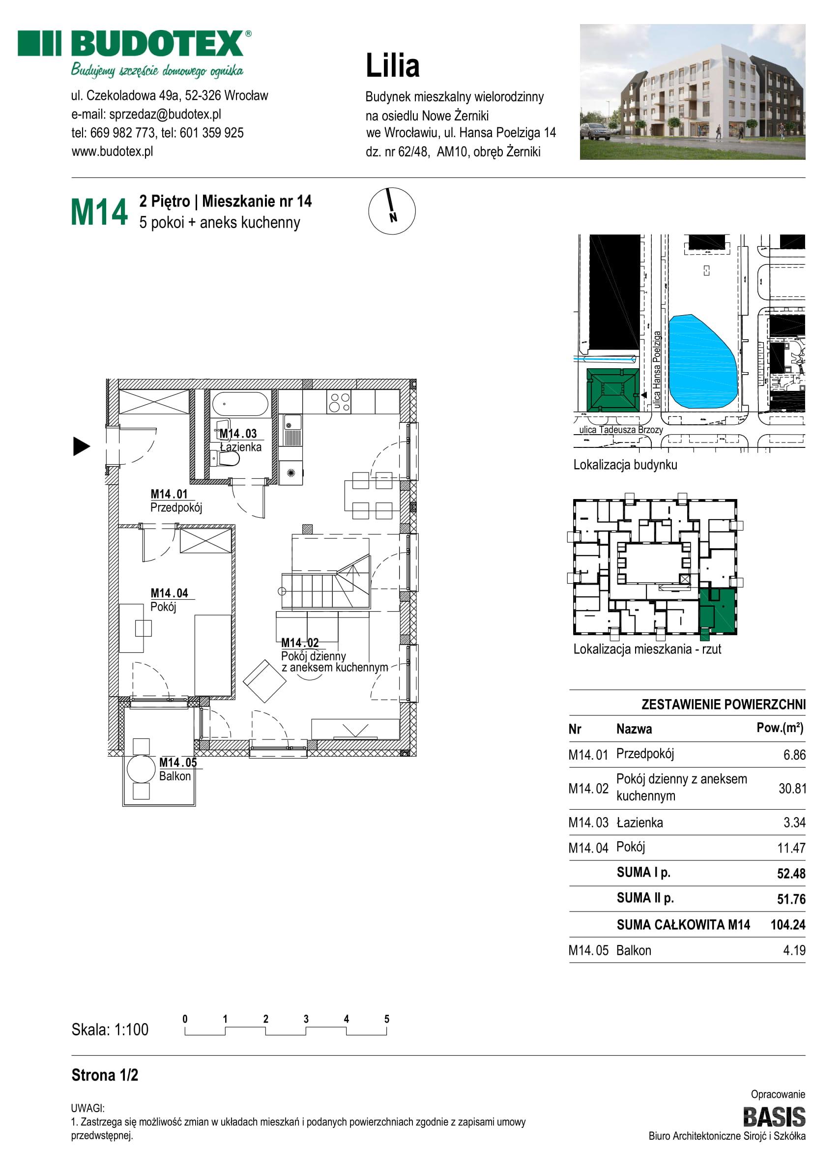 Mieszkanie nr M14