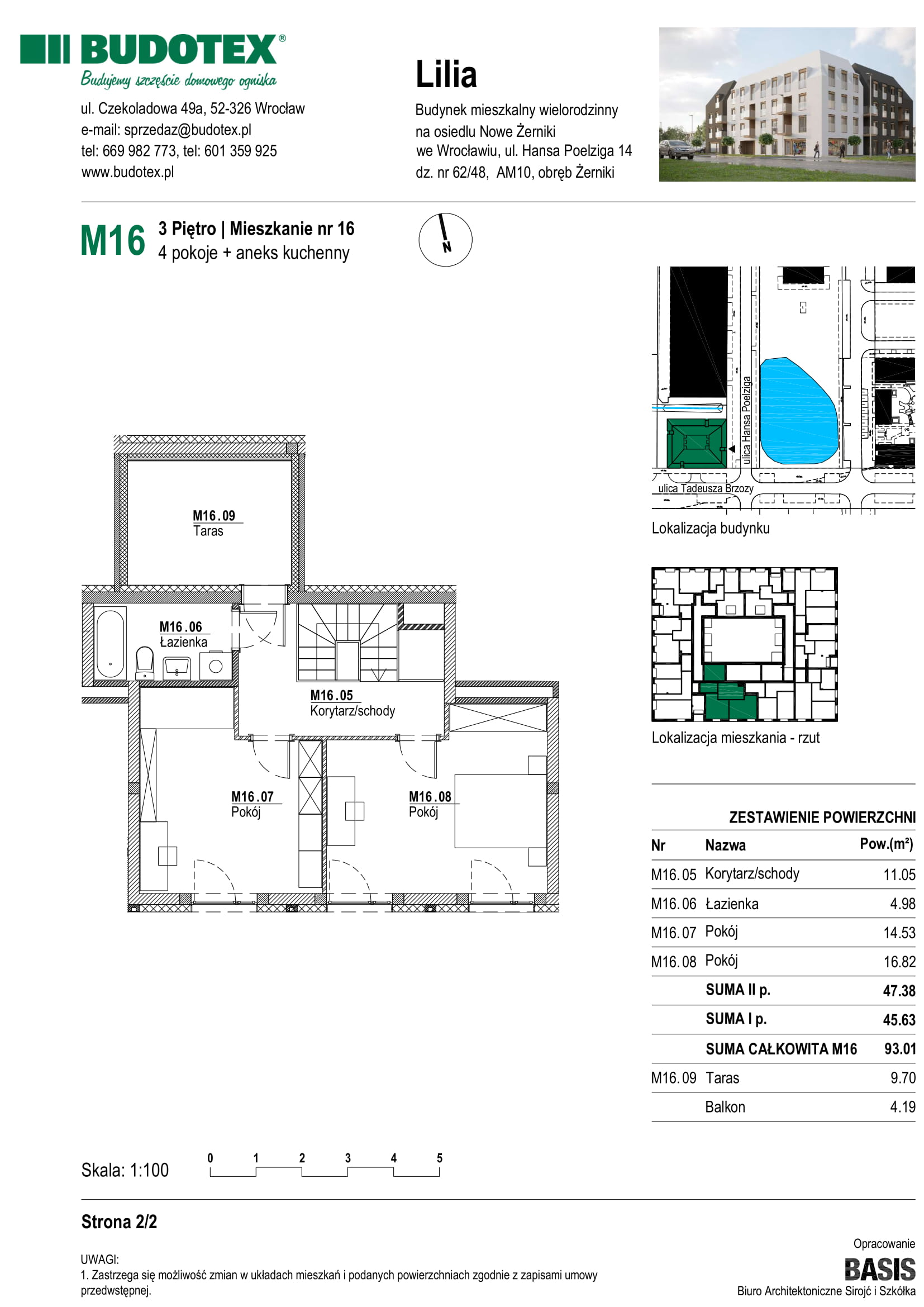 Mieszkanie nr M16
