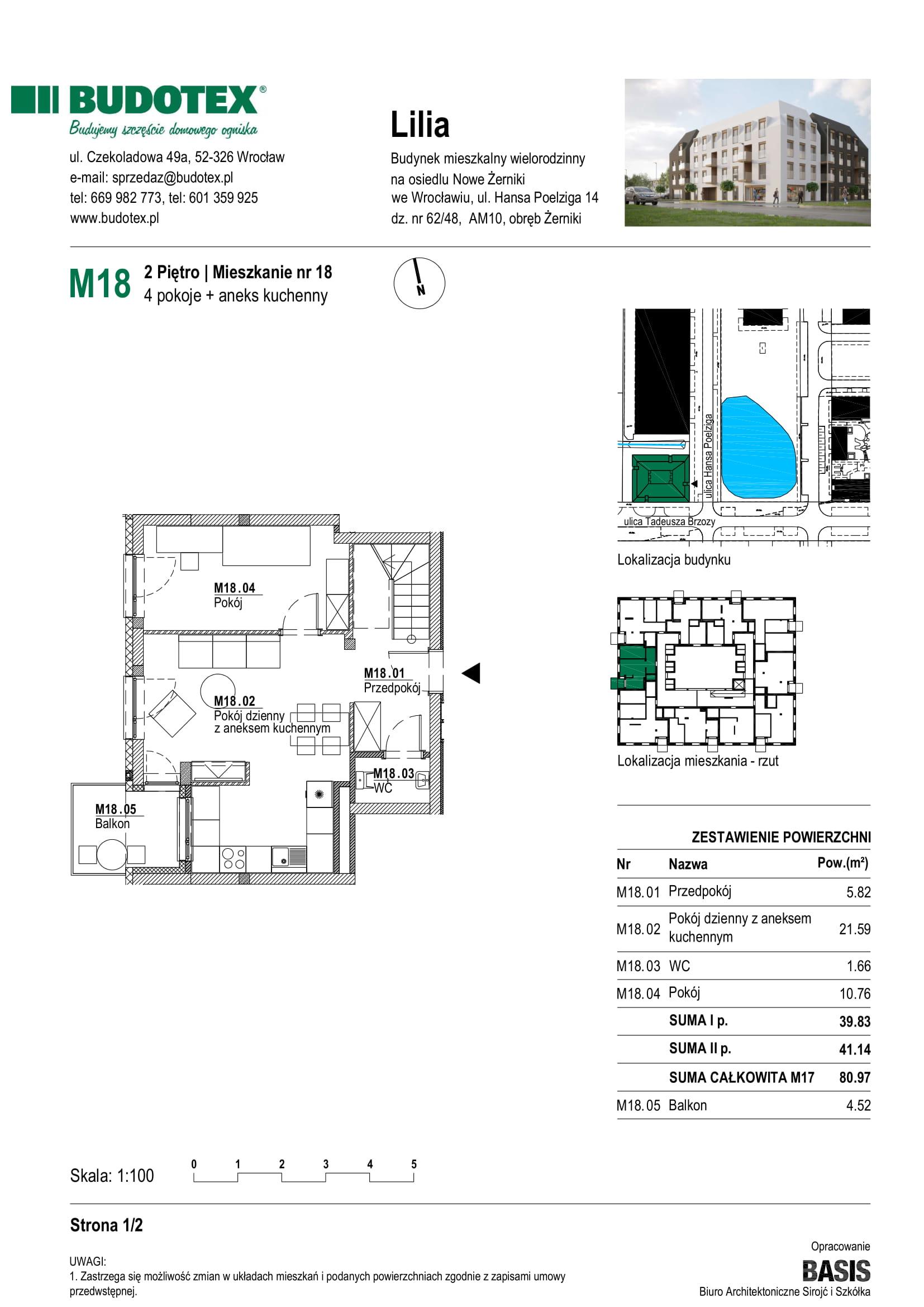 Mieszkanie nr M18