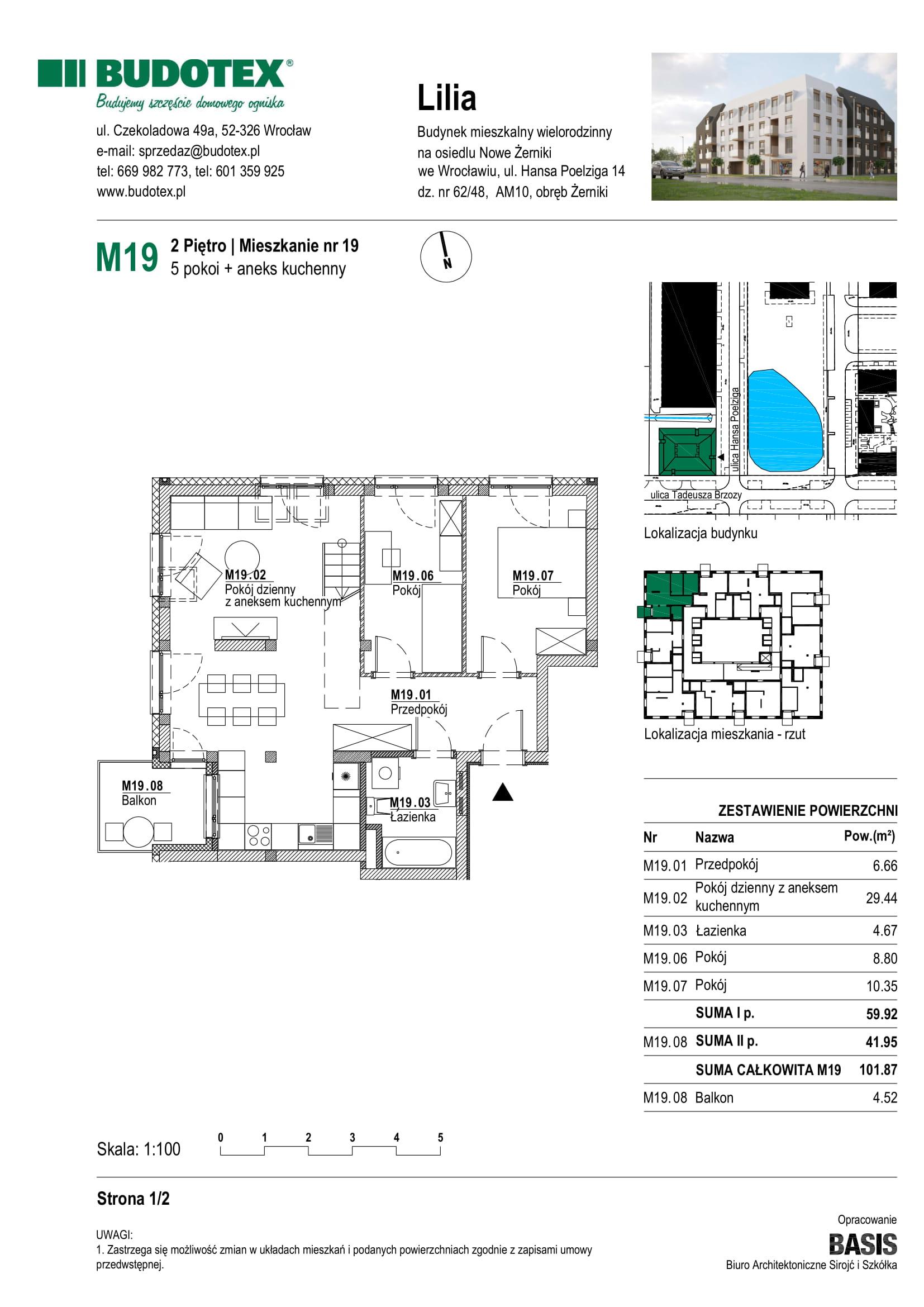 Mieszkanie nr M19