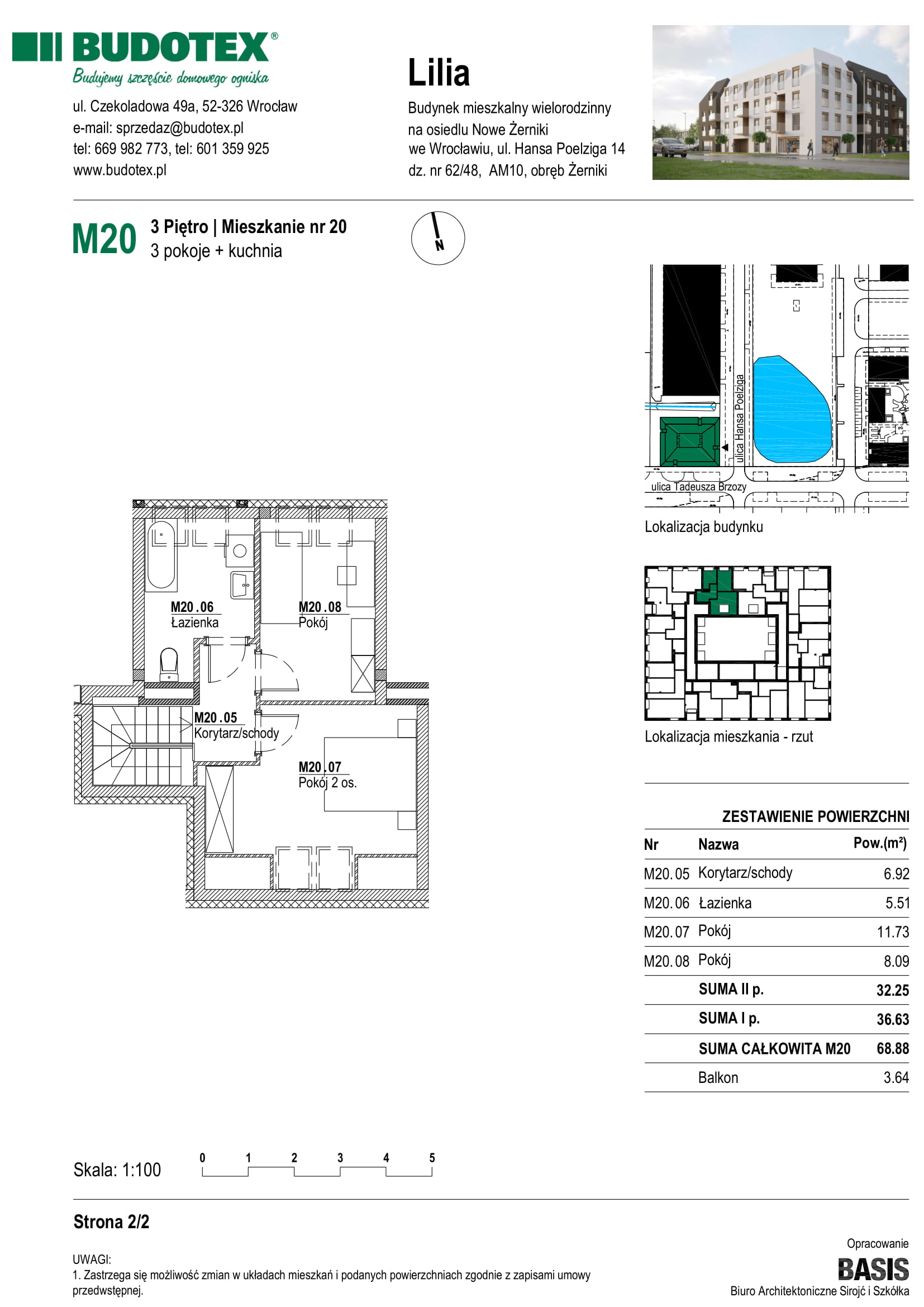 Mieszkanie nr M20