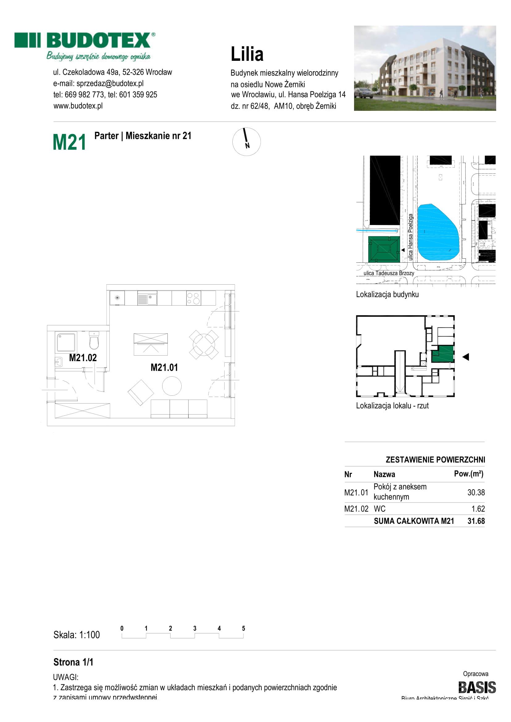 Mieszkanie nr U03